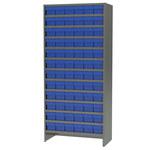 Akro-mils 6500 lb Ajustable Gris Acero 22 ga Adjunto Ajustable Sistema de estantería fijo - 72 gavetas - capacidad total 6500 lb - ASC1879168 BLUE