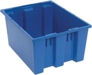 Quantum Storage 1.2 ft³ Azul Polímero de grado industrial Contenedor apilable - longitud 19 1/2 in - Ancho 15 1/2 in - Altura 10 in - 03897