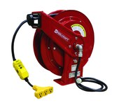 Reelcraft Industries Serie L 70000 75 pies Rojo Acero Carrete de cable - longitud total 19.75 pulg. - Ancho 8.25 pulg. - Altura 20.25 pulg. - 01821