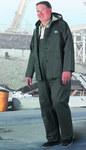 Dunlop Webtex 76018 Verde Grande Poliéster/PVC Traje de lluvia - 2 Bolsillos - Para tamaño del pecho 54 pulg. - Entrepierna 30 pulg. - 791079-14163