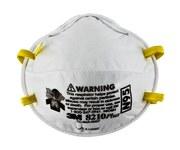 3M 8210Plus Blanco Estándar Copa moldeada Respirador de partículas - 051131-52924