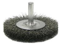 Weiler Acero Cepillo de cerdas radiales - Diámetro de la cerda 0.008 pulg. - 17959