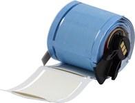 Brady PermaSleeve PSPT-1000-2-WT-R Blanco Manga para impresora de transferencia térmica troquelada - Altura 2 pulg. - Dia Min Alambre 0.333 pulg. a Dia Max Alambre 0.95 pulg. - Impresión de un solo la