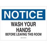Brady B-302 Poliéster Rectángulo Letrero de higiene personal Blanco - 10 pulg. Ancho x 7 pulg. Altura - Laminado - 88479