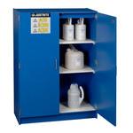 Justrite Haz-Alert 2 1/2 L Azul Gabinete de almacenamiento de material peligroso - Cierre manual - Parte superior del banco - Ancho 42 in - Altura 60 in - Parte superior del banco - 697841-00663