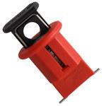 Brady Rojo Nailon reforzado con fibra de vidrio Sistema de bloqueo de disyuntor automático 90850 - Ancho 0.83 pulg. - Altura 1.64 pulg. - 662820-04639
