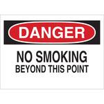 Brady B-302 Poliéster Rectángulo Letrero de no fumar Blanco - 10 pulg. Ancho x 7 pulg. Altura - Laminado - 88374