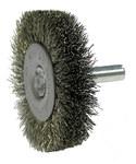Weiler Acero inoxidable Cepillo de cerdas radiales - Diámetro de la cerda 0.008 pulg. - 17974