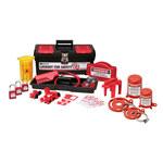 Brady Negro sobre rojo Kit de bloqueo/etiquetado - 754476-03472