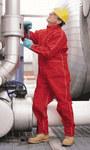 Ansell Sawyer-Tower 66-660 Rojo XL CPC trilaminado de poliéster Chaqueta resistente a productos químicos - Longitud 30 pulg. - 076490-21655