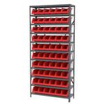 Akro-mils Rojo Gris Acero 22 ga Sistema de estantería de bandeja de sistema - 10 gavetas - AS1279312 RED