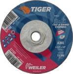 Weiler TIGER Óxido de aluminio Disco de corte y esmerilado - Diámetro 4 1/2 in - Grosor 1/8 in - 57100