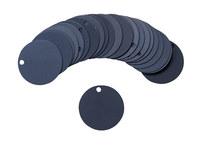 Brady 87605 Negro Círculo Aluminio Etiqueta en blanco para válvula - Ancho 1 1/2''de diámetro - B-906