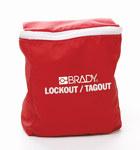 Brady Rojo Nailon Kit de bloqueo/etiquetado - Material de contenedor Nailon - 754473-70850