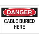 Brady B-302 Poliéster Rectángulo Cartel de cable o línea enterrada Blanco - 10 pulg. Ancho x 7 pulg. Altura - Laminado - 89098