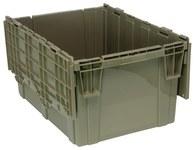 Quantum Storage 29.92 gal Gris Contenedor de tapa adjunto - longitud 28 in - Ancho 20 5/8 in - Altura 15 5/8 in - 04723