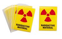 Brady 596-27 Rectángulo Etiqueta de peligro de radiación - 44120