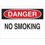 Brady B-302 Poliéster Rectángulo Letrero de no fumar Blanco - 10 pulg. Ancho x 7 pulg. Altura - Laminado - 88370