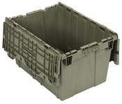 Quantum Storage 12.5 gal 7 lb Gris Contenedor de tapa adjunto - longitud 21 3/4 pulg. - Ancho 15 pulg. - Altura 12 3/4 pulg.