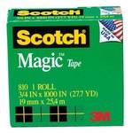 3M Scotch 810 Magic Cinta de oficina Transparente - 3/4 in Ancho x 1000 in Longitud - 59688