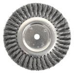 Weiler Acero Cepillo de rueda - Accesorio Eje - Agujero Central 5/8 pulg. - Diámetro de la cerda 0.023 pulg. - 08155