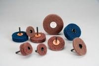 Standard Abrasives Buff and Blend 880213 GP A/O óxido de aluminio AO Disco lustrador - Mediano grado - Diámetro 2 pulg. - Agujero Central 1/4 pulg. - Acoplamiento de eje - 33288