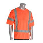 PIP 313-CNTSEOR Naranja Poliéster Camisa de alta visibilidad - Camiseta - Grado ANSI clase 3 - Para tamaño del pecho 51.2 pulg. - Longitud 31.1 pulg. - 616314-82641