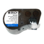 Brady M-125-461 Negro sobre transparente/Blanco Poliéster Cartucho para impresora de transferencia térmica troquelado - Altura 1 pulg. - B-461