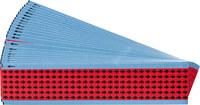 Brady EIA-3025-RD Rojo sobre negro Paño de vinilo Flecha de inspección impresa - Altura 1/4 pulg. - B-500