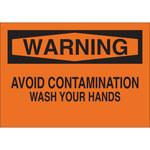 Brady B-302 Poliéster Rectángulo Letrero de higiene personal Naranja - 10 pulg. Ancho x 7 pulg. Altura - Laminado - 88485