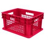 Akro-mils 5.12 gal Rojo Polímero de grado industrial Contenedor de pared recta - longitud 15 3/4 in - Ancho 11 3/4 in - Altura 8 1/4 in - Pared lateral Malla - capacidad apilada 83 lb 30 lb - 37208 RE