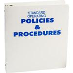 Brady Azul sobre blanco Carpeta de hojas de datos GHS y MSDS - STANDARD OPERATING POLICIES & PROCEDURES - Inglés - 754476-45320