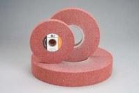 Standard Abrasives 850361 A/O óxido de aluminio AO Disco lustrador - Mediano grado - Diámetro 8 pulg. - Agujero Central 3 pulg. - Grosor 1 1/2 pulg. - 42964