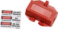 Brady 120 V Rojo Bloqueo de enchufe eléctrico 103534 - 754476-17519