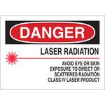 Brady B-302 Poliéster Rectángulo Cartel/Etiqueta de peligro de láser Blanco - 10 pulg. Ancho x 7 pulg. Altura - Laminado - 88709