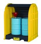 Justrite Negro/Amarillo Ecopolyblend 2500 lb 67 gal Tarima con proteccion - Apoya 2 Barriles - Ancho 60 3/4 pulg. - Longitud 58 1/2 pulg. - Altura 75 1/4 pulg. - 697841-13357