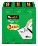 3M Scotch 810H3 Magic Cinta de oficina Transparente - 1/2 in Ancho x 1296 in Longitud - 52379