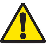 Brady 60188 Negro sobre amarillo Triángulo Vinilo Etiqueta de área peligrosa - Altura 1/2 in - B-946