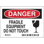 Brady 86136 Poliéster Etiqueta de seguridad del equipo - Altura 3 1/2 pulg. - B-302