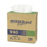 NuTrend TaskBrand V40 Blanco DRC Toalla de limpieza - Interplegado - 100 por paquete - longitud total 9 pulg. - Ancho 16 1/2 pulg. - NUTREND N-V040IDW