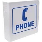 Brady Serigrafiado Forma de L Cartel de ubicación de teléfono Blanco - 8 pulg. Ancho x 8 pulg. Altura - 45475
