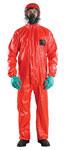 Ansell Microchem AlphaTec 68-CFR Rojo Grande PVC/Tejido tratado con FR Desechable Overol resistente al fuego - 076490-06068