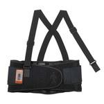 Ergodyne Proflex 1100SF Negro Grande Spandex Cinturón de soporte para la espalda - Sin almohadilla lumbar - Ancho 8 pulg. - Tamaño de cintura 34 a 38 pulgadas - 720476-11604