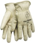 Tillman 1424 Perla Grande Cuero Grano Cuero vacuno Cuero Guante para conductor - Pulgar montado - TILLMAN 1424 LG