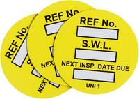 Brady UNI-UNI Amarillo Inserción de etiqueta universal - 14476