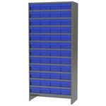 Akro-mils 6500 lb Ajustable Gris Acero 22 ga Adjunto Ajustable Sistema de estantería fijo - 48 gavetas - capacidad total 6500 lb - ASC1879188 BLUE