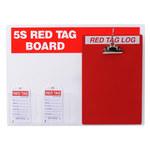 Brady Acrílico/papel Rectángulo Cartel de tablero de etiqueta roja Blanco - 122056