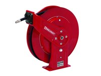 Reelcraft Industries Serie F7000 25 pies Rojo Acero Carrete de manguera - longitud total 19 pulg. - Ancho 7 pulg. - Altura 20.25 pulg. - 00026