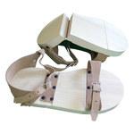 Chicago Protective Apparel Tostado Grande Cubrebotas y cubrecalzado resistentes al calor - Velcro - Suela Cuero - CPA-351 LG