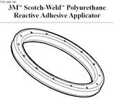 3M Scotch-Weld Sello de tapa de extremo - Para uso con Aplicador de adhesivo PUR Piezas compatibles: tapa de extremo - 89477